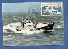 """Carte Premier Jour / Sauvetage En Mer /  Canot Tout Temps """" Pierre Loti """" / Paris  / 27-4-1974 - Maximum Cards"""