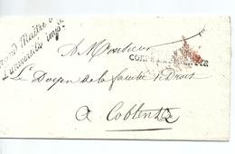 Lettre En Franchise De Paris / Grand Maître De L'Université Impériale /Postes,Corps Législatif - 1801-1848: Precursors XIX