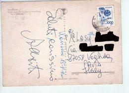 U3951 NICE STAMP AND TIMBRE 1981 On Postcard WARSZAWA, WIDOK Z PLACU ZAMKOWEGO NA ULICE PIWNA + ANNULLO VOGHERA - Polonia