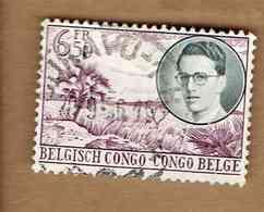 Congo Belge.(COB-OBP)  1955 - N°332    *VOYAGE ROYAL AU CONGO*   6,50F   Oblitéré - 1947-60: Oblitérés