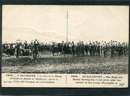 CPA - 1914... A SALISBURY - Le Roi Et La Reine Quittant La Plaine Après La Revue Des Troupes, Très Animé - Guerre 1914-18