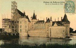 Château De SULLY SUR LOIRE - Vue De La Promenade Du Pilier Echafaudage Pour Travaux - Sully Sur Loire