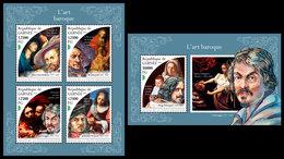 GUINEA 2018 - Baroque Art. M/S + S/S. Official Issue - Art