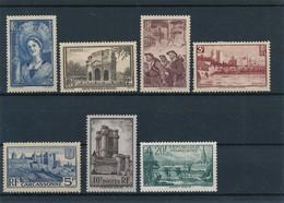 FRANCE - N°YT 388/94 NEUFS* AVEC CHARNIERE - COTE YT : 72€ - 1938 - Neufs