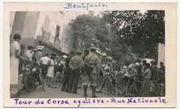 BONIFACIO (Corse) - 2 Photos Amateur - Tour De Corse Cycliste - 1935 - Cyclisme