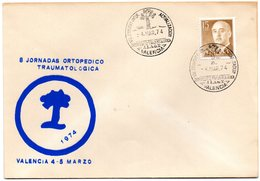 Carta Con Matasellos Commemorativo  Jornada Ortopedico Traumatologica De 1974 - 1931-Hoy: 2ª República - ... Juan Carlos I