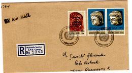 Lettre Recommandée De Nicosie (14.10.1974) Pour Quaregnon_grand Fragment - Chypre (République)