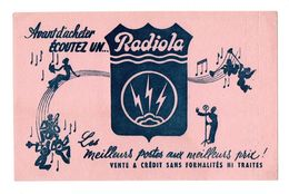Buvard Avant D'acheter écoutez Un Radiola Les Meilleurs Postes - Buvards, Protège-cahiers Illustrés
