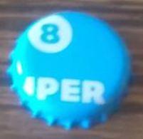 Belgique Capsule De Bière Beer Crown Cap Super 8 Blanche - Bier