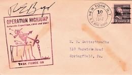Operation Highjump U.S. Mount Olympus - Byrd Signature - Timbres