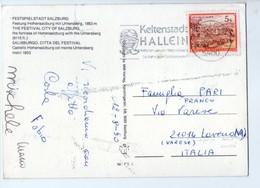 U3964 Nice Timbre KELTENSADT HALLEIN On Postcard FESTSPIELSTADT SALZBURG _ Storia Postale - Salzburg Stadt