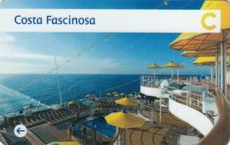 ITALY Cabin Keycard - COSTA FASCINOSA ,Used - Cartes D'hotel