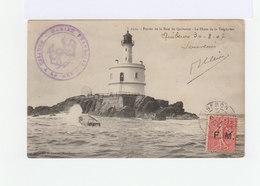 Sur Carte Postale Type Semeuse 10 C. Impression  F.M. CAD Quiberon 1907. Cachet Marine Française.  (906) - Marcophilie (Lettres)