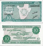Burundi 2007 - 10 Francs - Pick 33 UNC - Burundi
