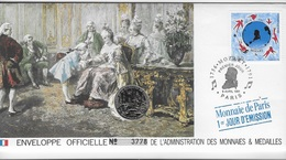 Enveloppes Officielle Monnaie De Paris 1er Jour D'émission Mozart - Expositions Philatéliques