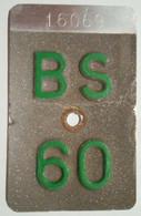 Velonummer Basel Stadt BS 60 - Plaques D'immatriculation