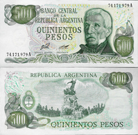 Argentina 1977 ND - 500 Pesos Pick 303 UNC - Argentine