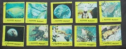 Manama 1972 Animals Fish Space 10 Stamps - Manama