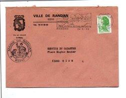 LETTRE DE MAIRIE DE RANDAN PUY DE DOME - Postmark Collection (Covers)