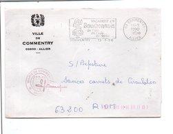 LETTRE DE MAIRIE DE COMMENTRY ALLIER - Postmark Collection (Covers)