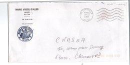 LETTRE DE MAIRIE D'USSEL -D'ALLIER ALLIER - Postmark Collection (Covers)