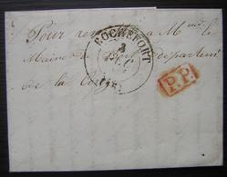 Rochefort 1846 Port Payé Pour Le Maire De Bort (Corrèze) - Marcofilia (sobres)