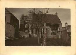 011218A - MILITARIA GUERRE 1914 18 BELGIQUE Bataille De L'Yser 1917 Ruine Bombe - PERVYSE Poste Française Vu De Derrière - Guerra 1914-18