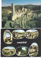 MINERVE. 2 CP Vue Générale - Multivues - Altri Comuni