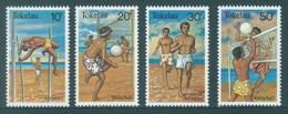 TOKELAU - MNH/** - 1981  - ATHLETICS VOLLY BALL - Yv 77-80 -  Lot 18363 - Tokelau