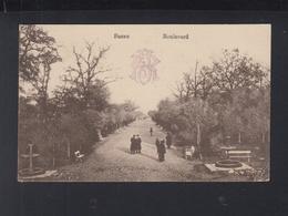 Romania PPC Buzau Boulevard 1917 - Romania