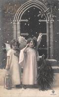 Joyeux Noël - Carte Fantaisie - Enfants Anges - Ange Neige - Other