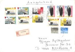 NETHERLANDS - RECO 1988 ENSCHEDE - NORDHORN Mi #1299, 1318, 1319, 1315, 1317 - Periode 1980-... (Beatrix)