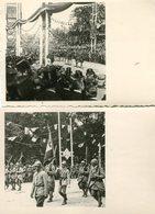 Lot De 2 Photos Format CPA - Les Fêtes De La Victoire - Guerre 1914-18