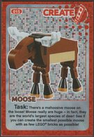 Lego Trading Card - Create The World - 015 Moose - Trading Cards