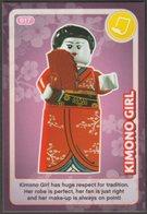 Lego Trading Card - Create The World - 017 Kimono Girl - Trading Cards