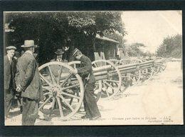CPA - GUERRE DE 1914 - Canons Allemands Pris En Belgique, Animé - Guerre 1914-18