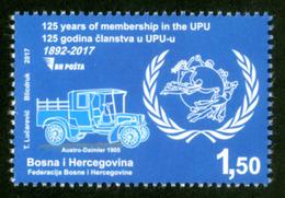 2017, The 125th Anniversary Of Membership Of Universal Postal Union, Bosnia And Herzegovina, MNH - Bosnie-Herzegovine