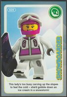 Lego Trading Card - Create The World - 020 Snowboarder - Trading Cards