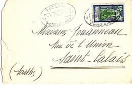 Lettre, Brief,cover Comptoir Français En Inde Pondichery. - Lettres & Documents