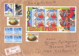 NETHERLANDS - RECO 1992 DENEKAMP - NORDHORN Mi #1381, 1409, 1417 BLOCK #35 - Period 1980-... (Beatrix)