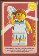 Lego Trading Card - Create The World - 021 Tennis Player - Trading Cards