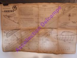 Plan Aeromodelisme Maquette Avion Planeur Le Jabiru G Bougueret MACF 2 Planches Plans Guillemard - Avions