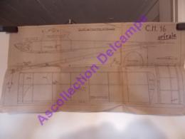 Plan Aeromodelisme Maquette Avion Planeur Clap De Meurthe Et Moselle CH16 Orfaie - Aviones
