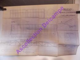 Plan Aeromodelisme Maquette Avion Planeur Clap Loire Inferieure Bojeudi Planeur Entrainement - Avions
