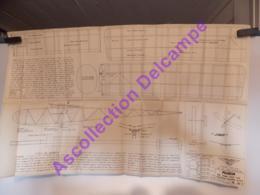 Plan Aeromodelisme Maquette Avion Planeur Acli Jideu Planeur - Aviones