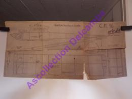 Plan Aeromodelisme Maquette Avion Planeur Orfraie CH16 Clap De Meurthe Et Moselle - Aviones