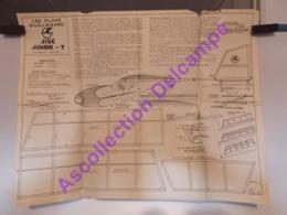 Plan Aeromodelisme Maquette Avion Planeur Plans Guillemard Jigé Junior 7 Planeur Ecole - Aviones