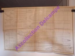 Plan Aeromodelisme Maquette Avion Planeur Planeur D Entrainement Bourdon MG4 - Avions