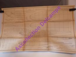 Plan Aeromodelisme Maquette Avion Planeur Planeur D Entrainement Bourdon MG4 1949 - Aviones