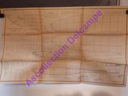 Plan Aeromodelisme Maquette Avion Planeur Planeur D Entrainement Bourdon MG4 1949 - Avions